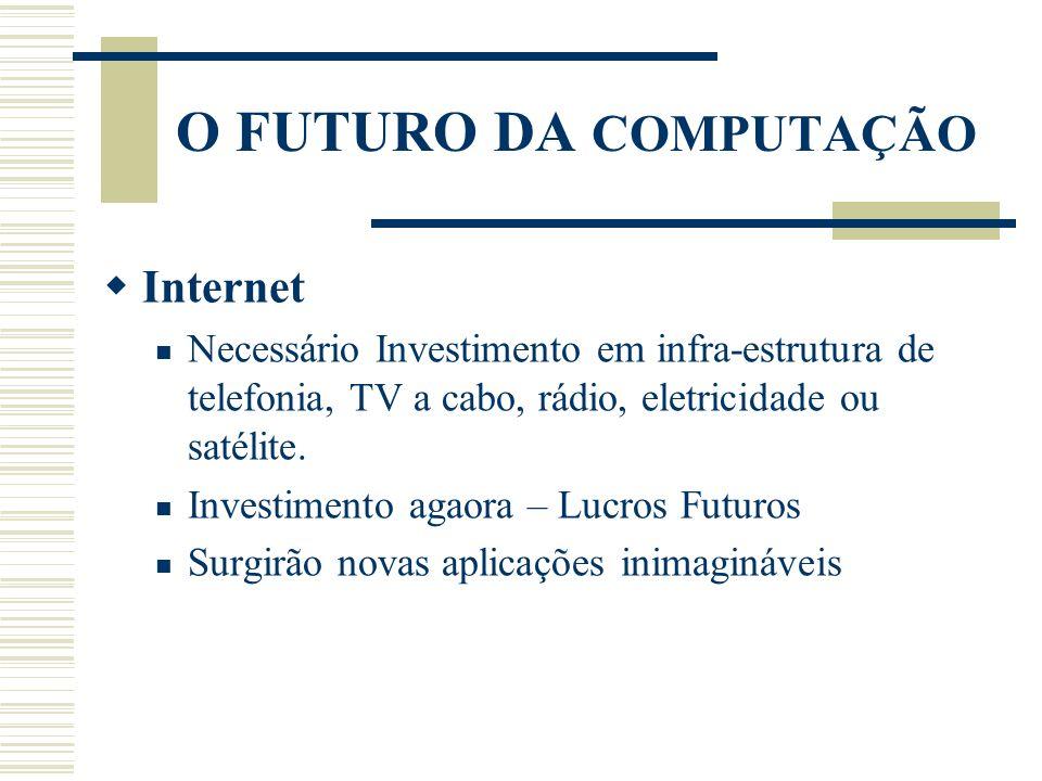 O FUTURO DA COMPUTAÇÃO Internet