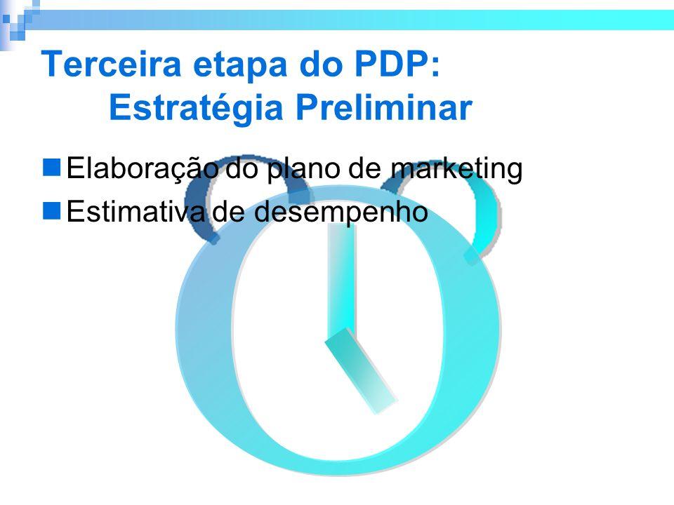 Terceira etapa do PDP: Estratégia Preliminar
