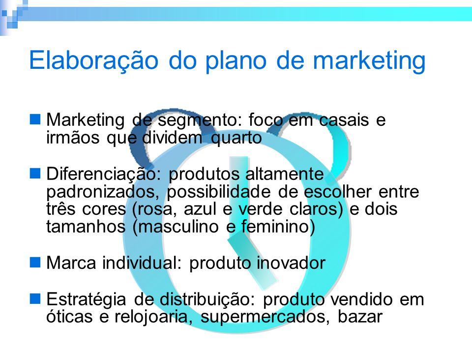 Elaboração do plano de marketing