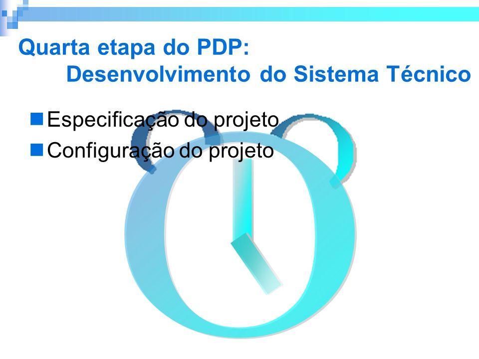 Quarta etapa do PDP: Desenvolvimento do Sistema Técnico