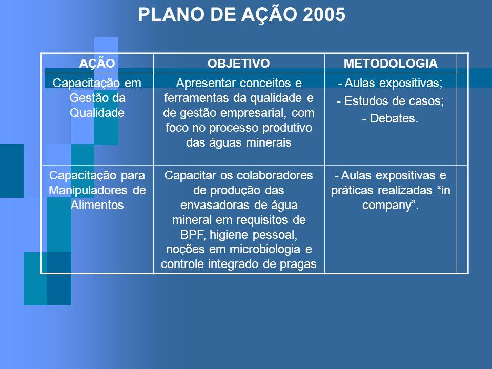 PLANO DE AÇÃO 2005 AÇÃO OBJETIVO METODOLOGIA