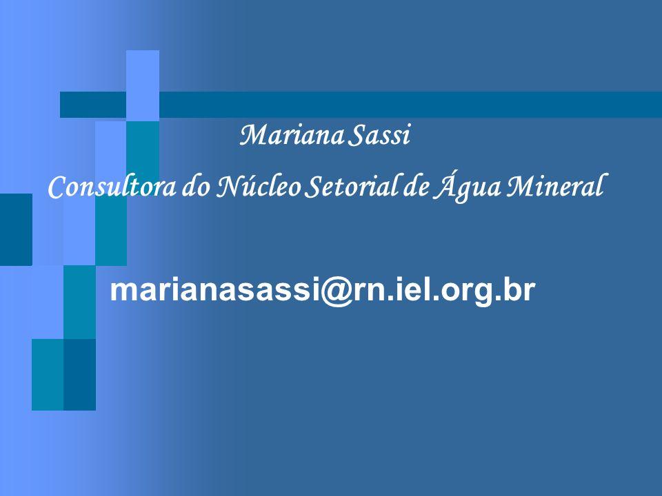 Consultora do Núcleo Setorial de Água Mineral