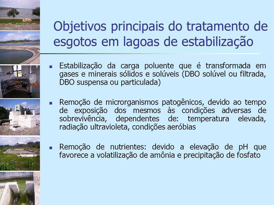Objetivos principais do tratamento de esgotos em lagoas de estabilização