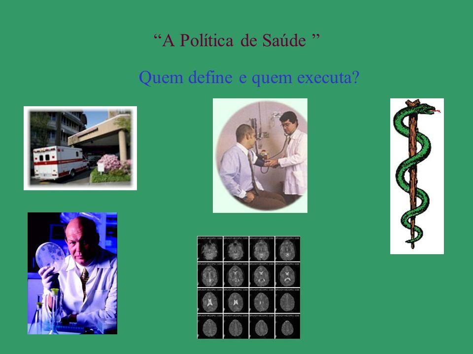 A Política de Saúde Quem define e quem executa