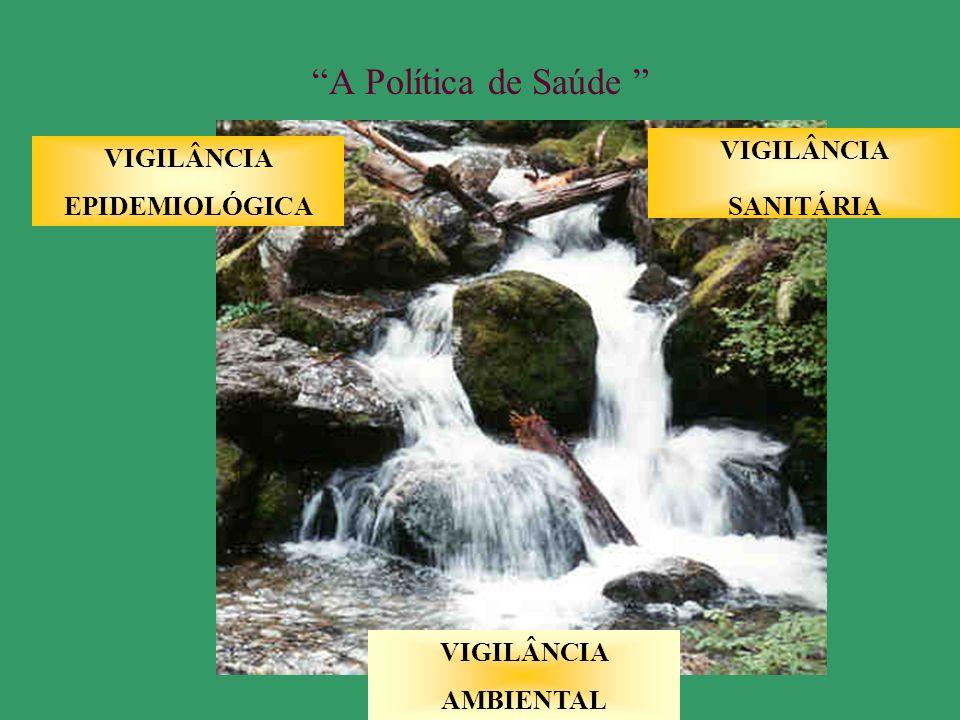 A Política de Saúde VIGILÂNCIA VIGILÂNCIA SANITÁRIA EPIDEMIOLÓGICA