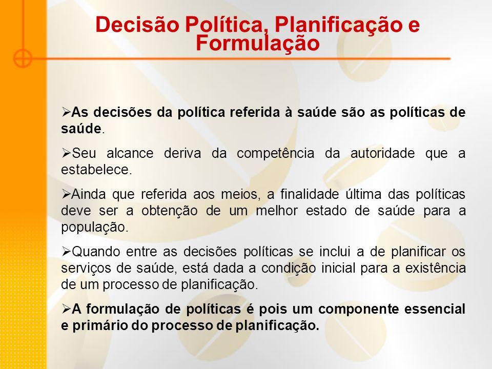 Decisão Política, Planificação e Formulação