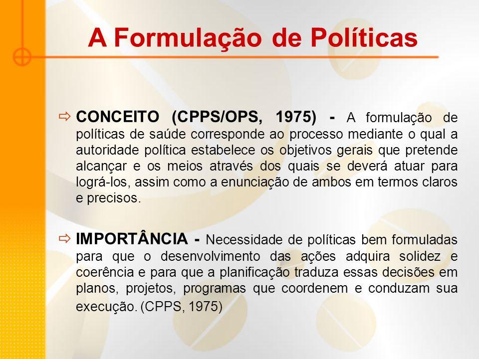 A Formulação de Políticas
