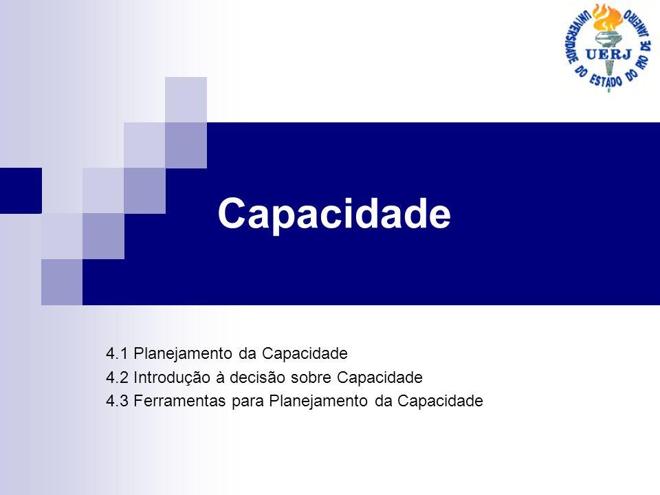 Capacidade 4.1 Planejamento da Capacidade