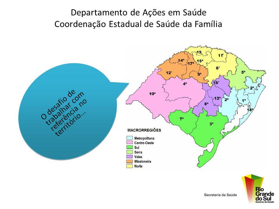 Departamento de Ações em Saúde Coordenação Estadual de Saúde da Família