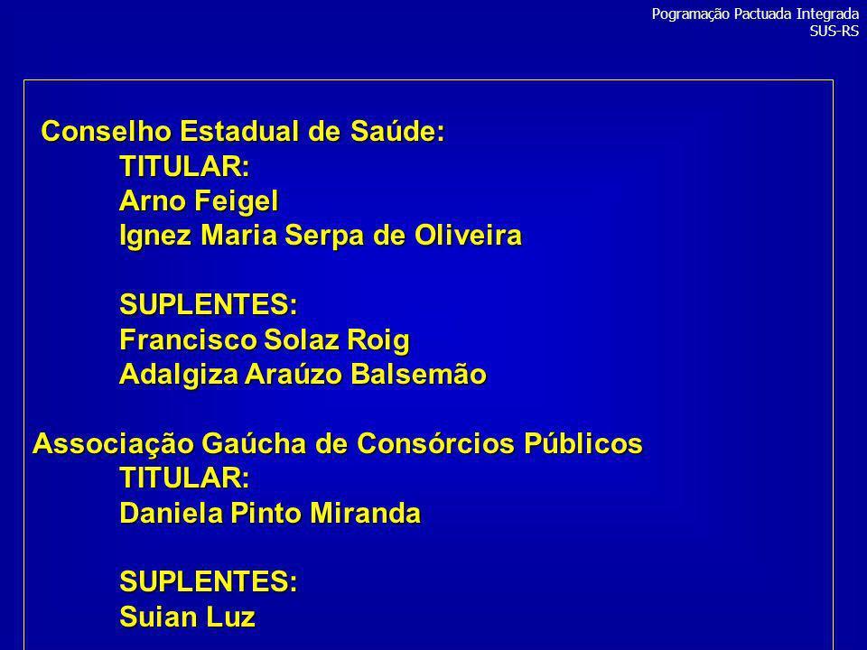 Conselho Estadual de Saúde: TITULAR: Arno Feigel