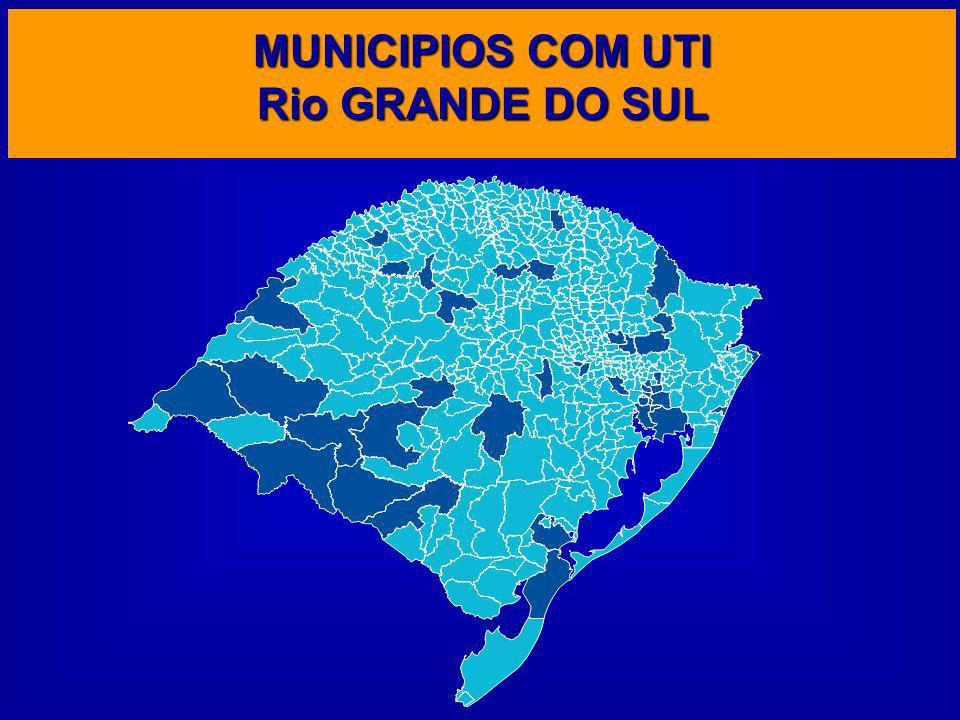 MUNICIPIOS COM UTI Rio GRANDE DO SUL