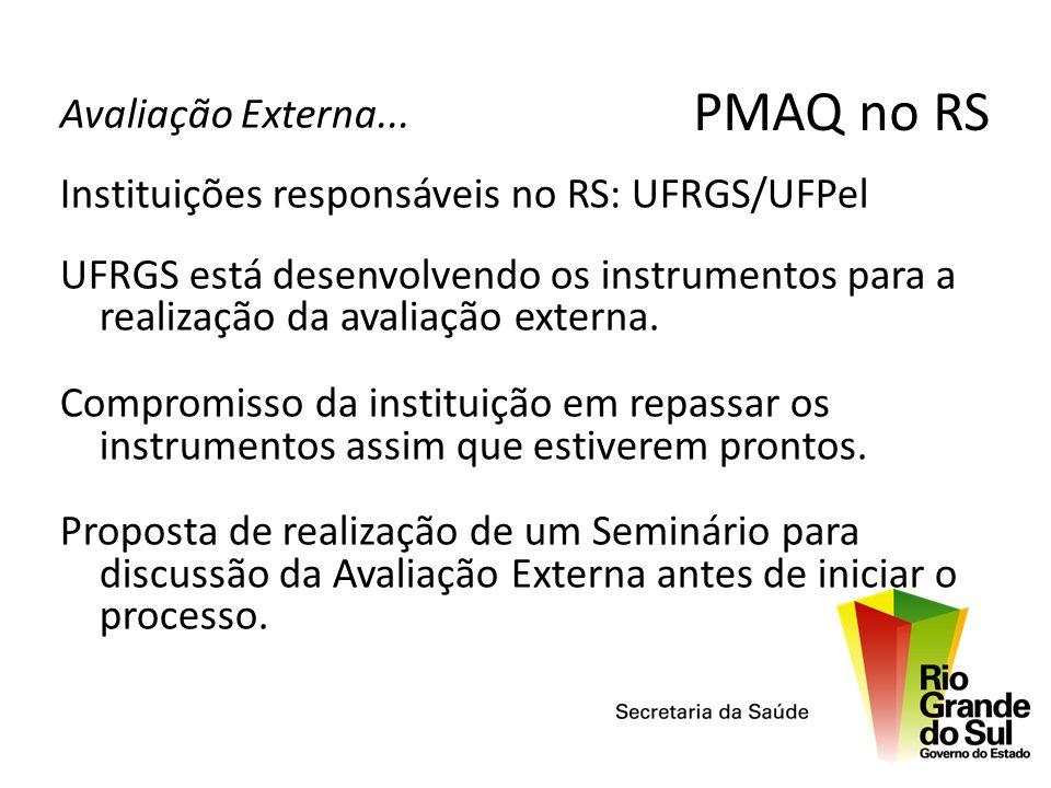 PMAQ no RS Avaliação Externa...