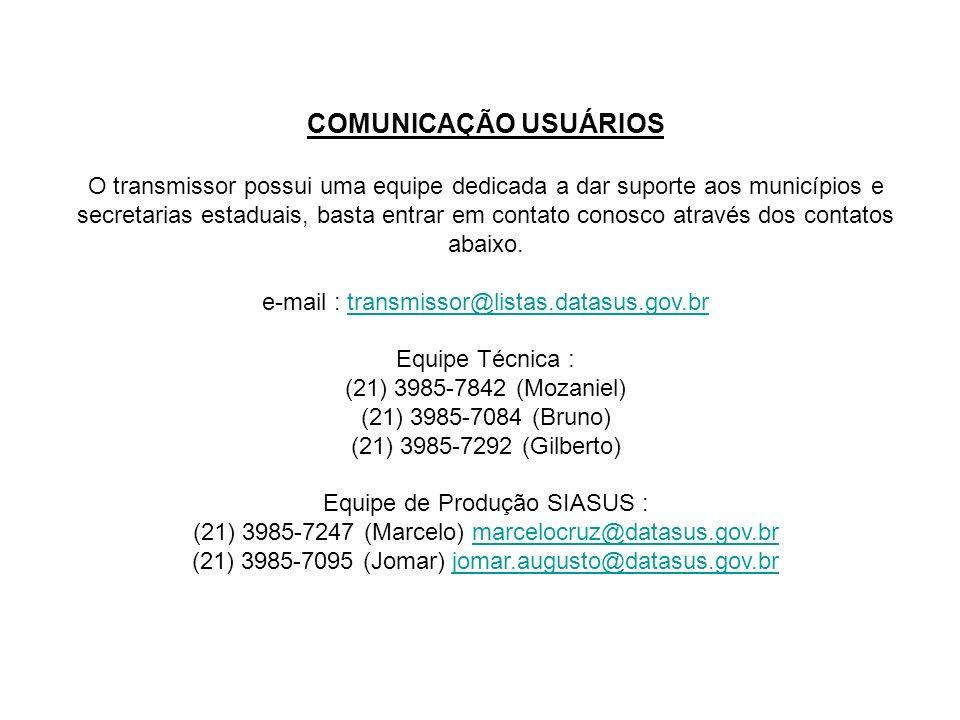 COMUNICAÇÃO USUÁRIOS
