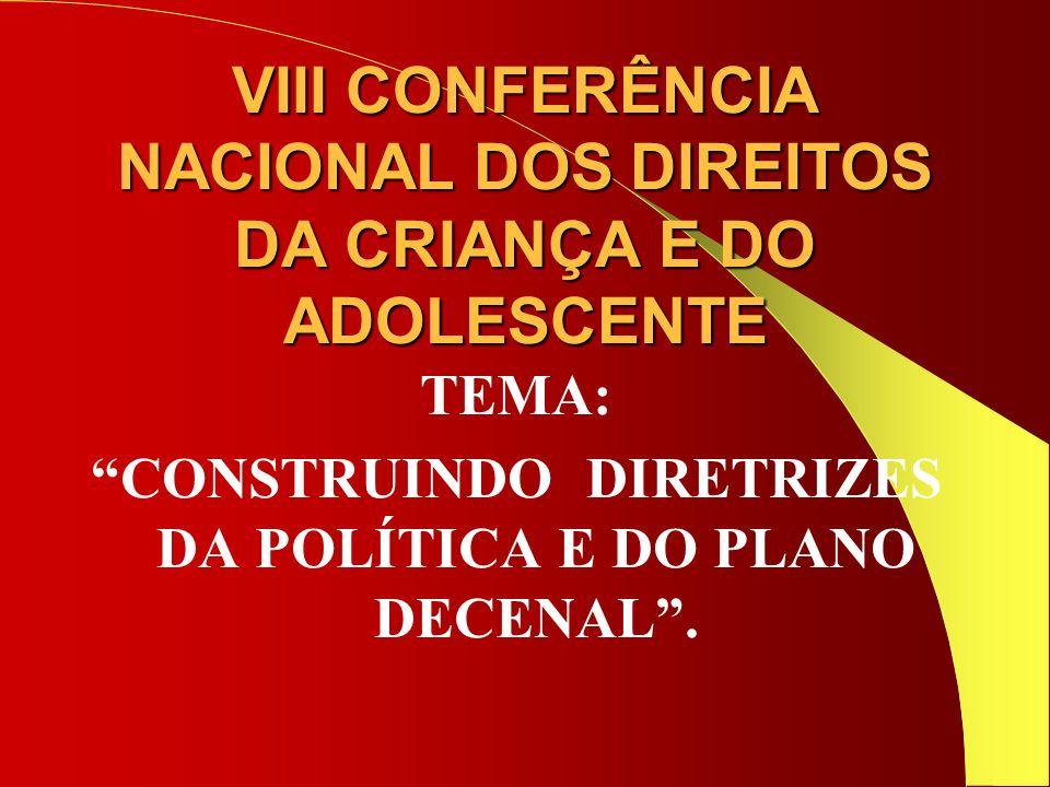 VIII CONFERÊNCIA NACIONAL DOS DIREITOS DA CRIANÇA E DO ADOLESCENTE