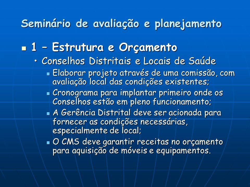 Seminário de avaliação e planejamento