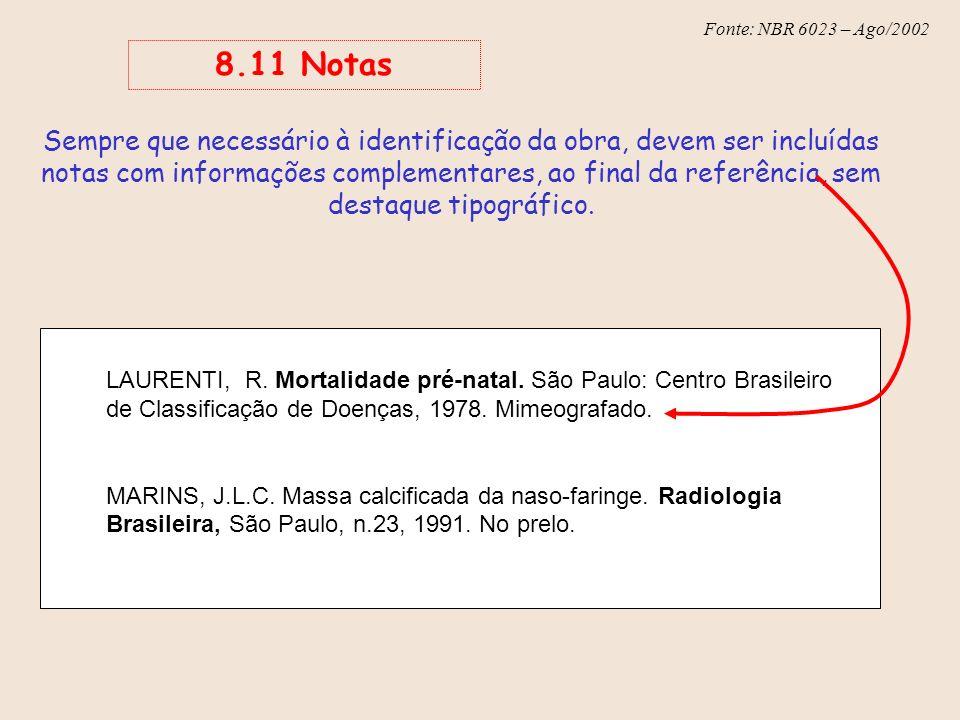 8.11 Notas
