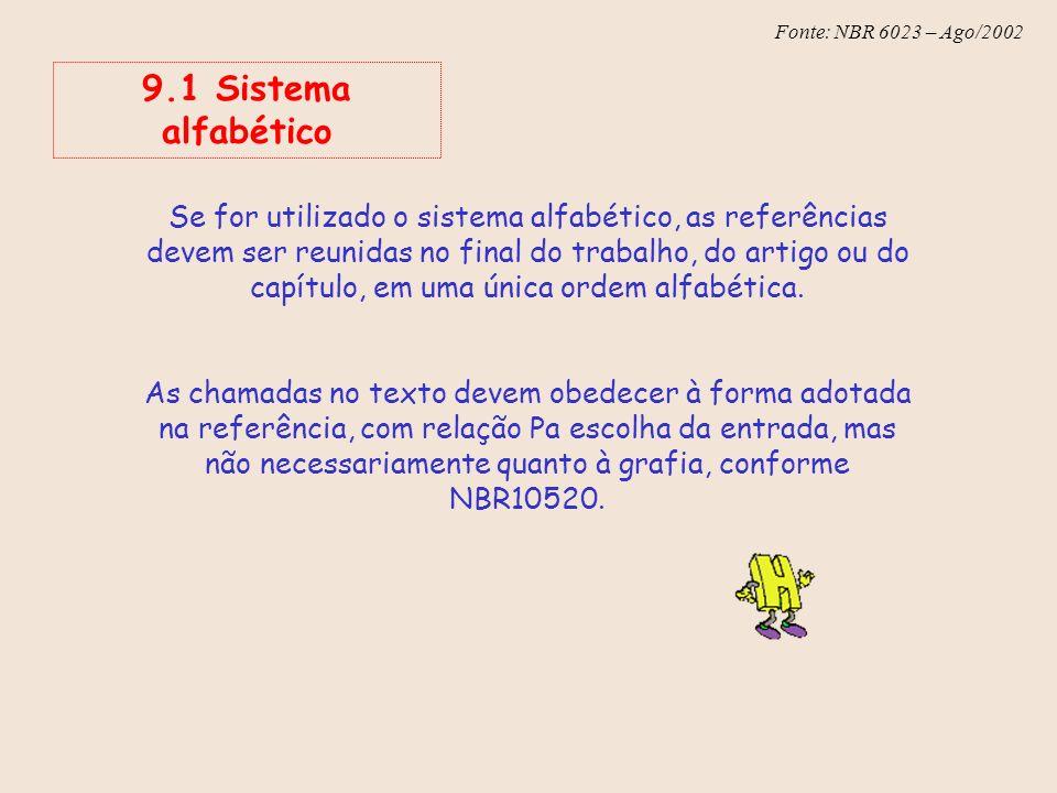 9.1 Sistema alfabético