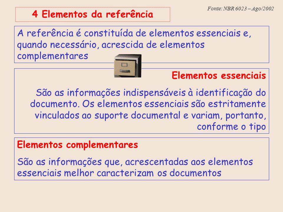 4 Elementos da referência