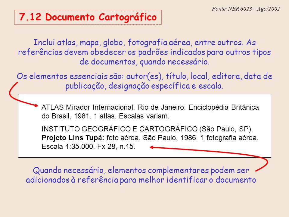 7.12 Documento Cartográfico