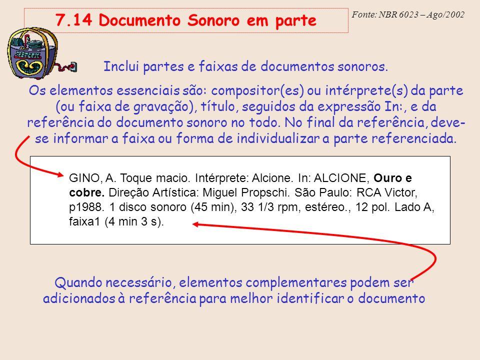 7.14 Documento Sonoro em parte