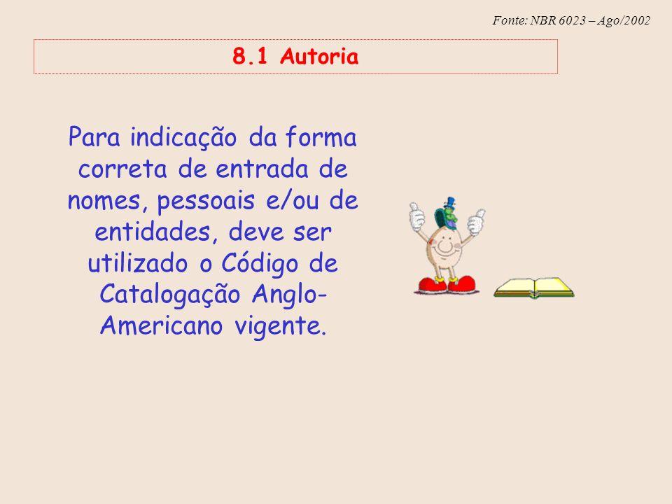 8.1 Autoria