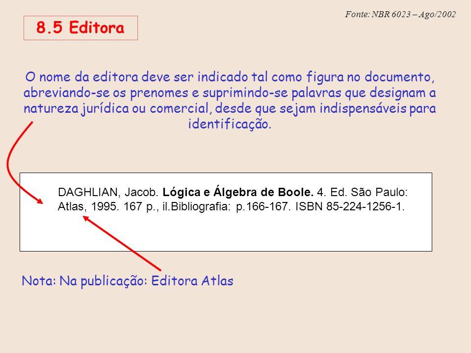 Nota: Na publicação: Editora Atlas