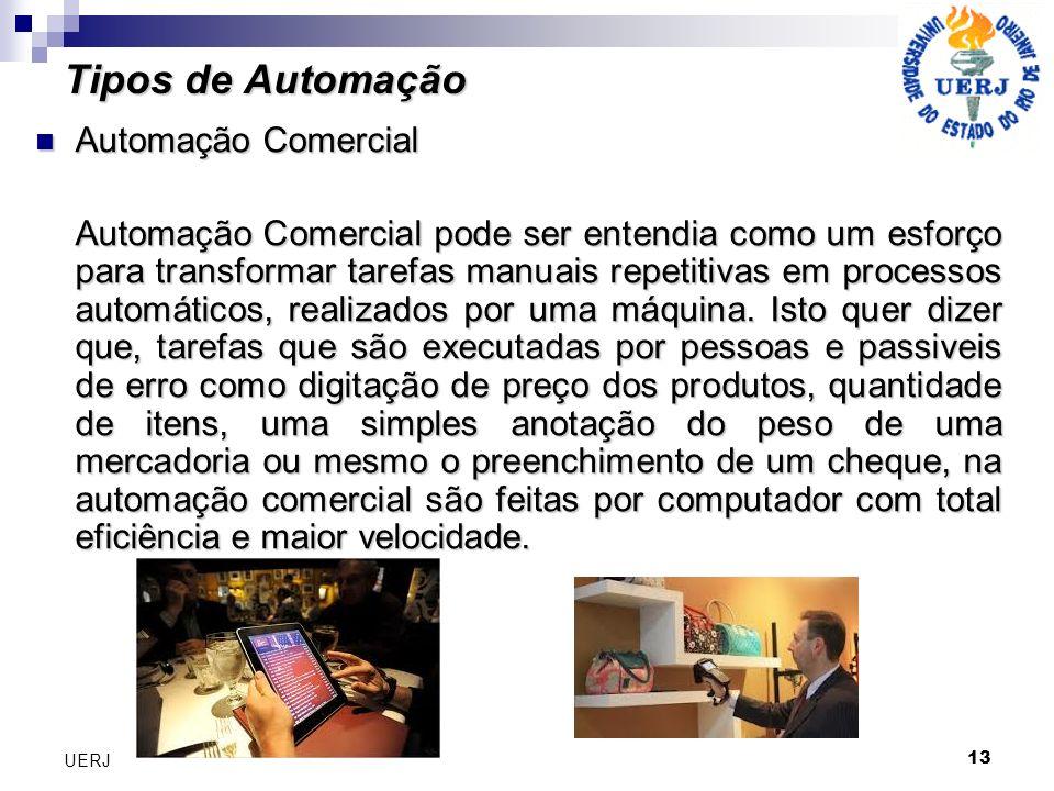 Tipos de Automação Automação Comercial