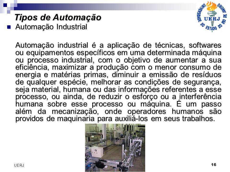 Tipos de Automação Automação Industrial
