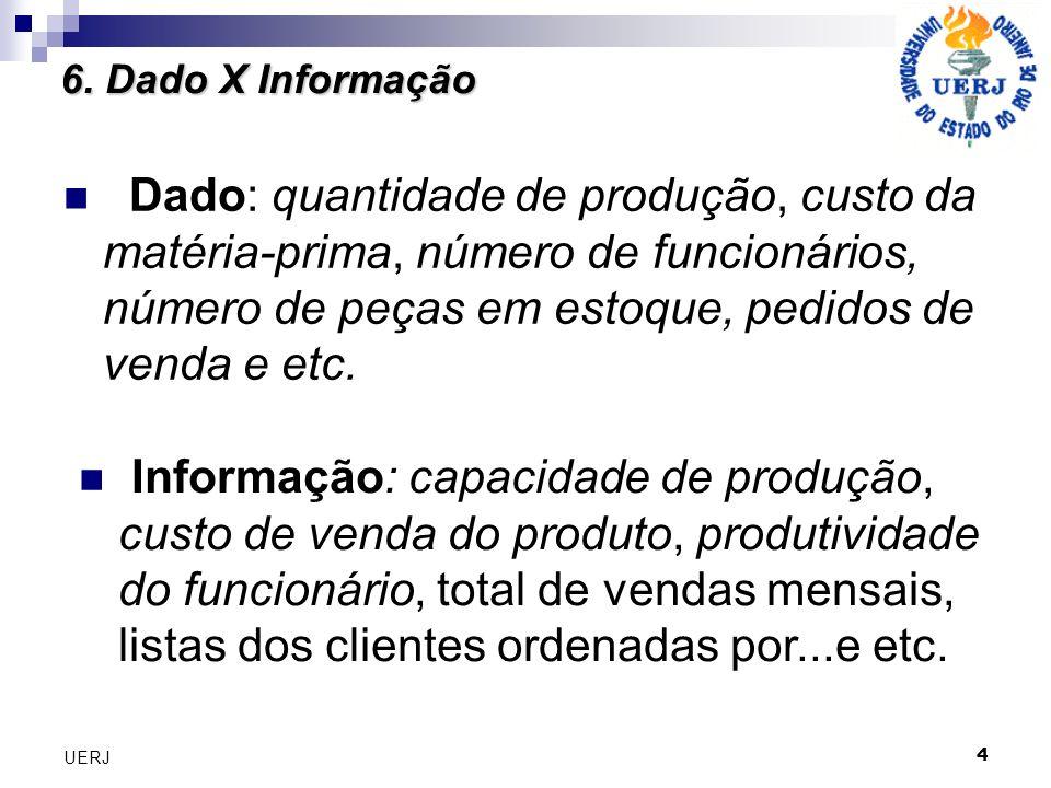 6. Dado X Informação