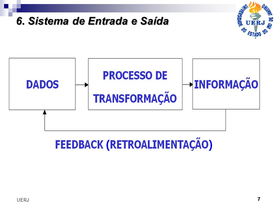 6. Sistema de Entrada e Saída