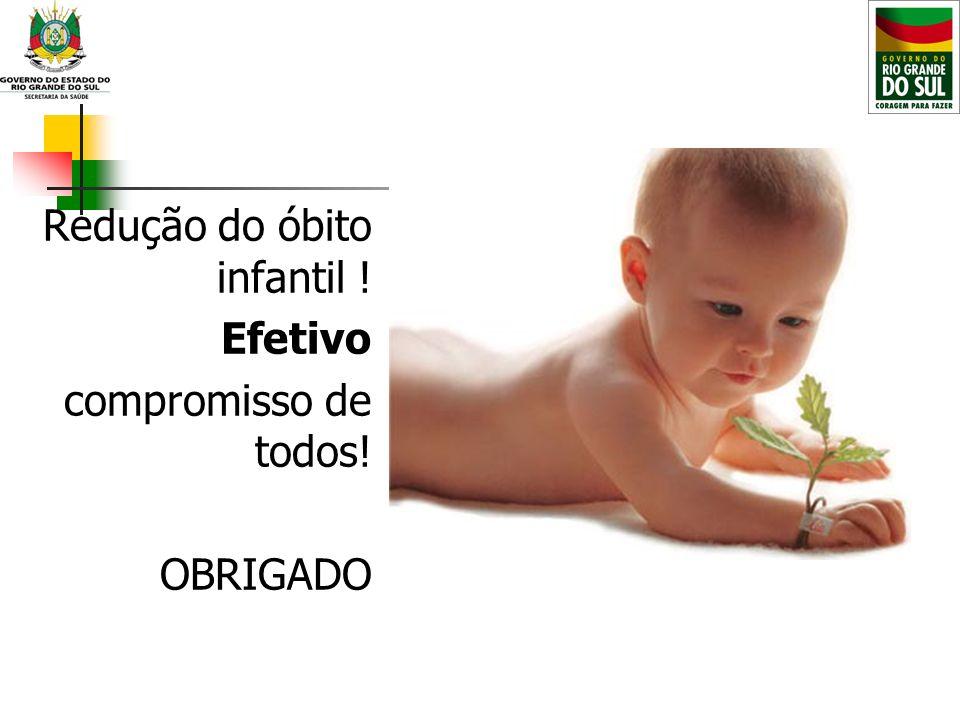 Redução do óbito infantil !