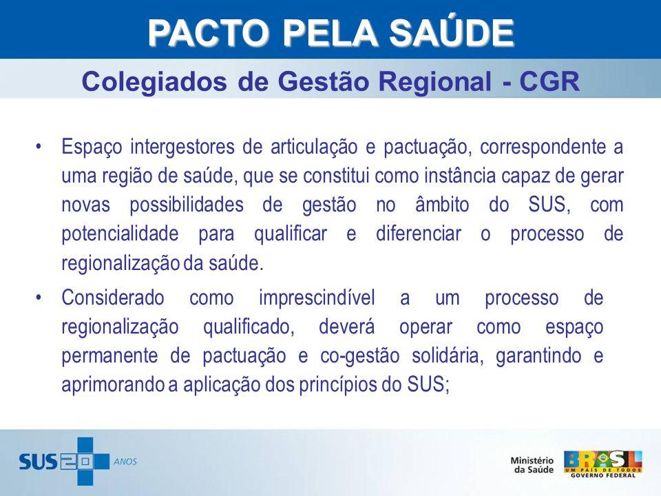 Colegiados de Gestão Regional - CGR