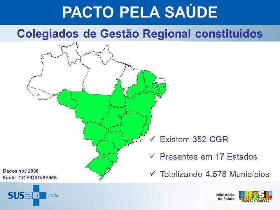 Colegiados de Gestão Regional constituídos