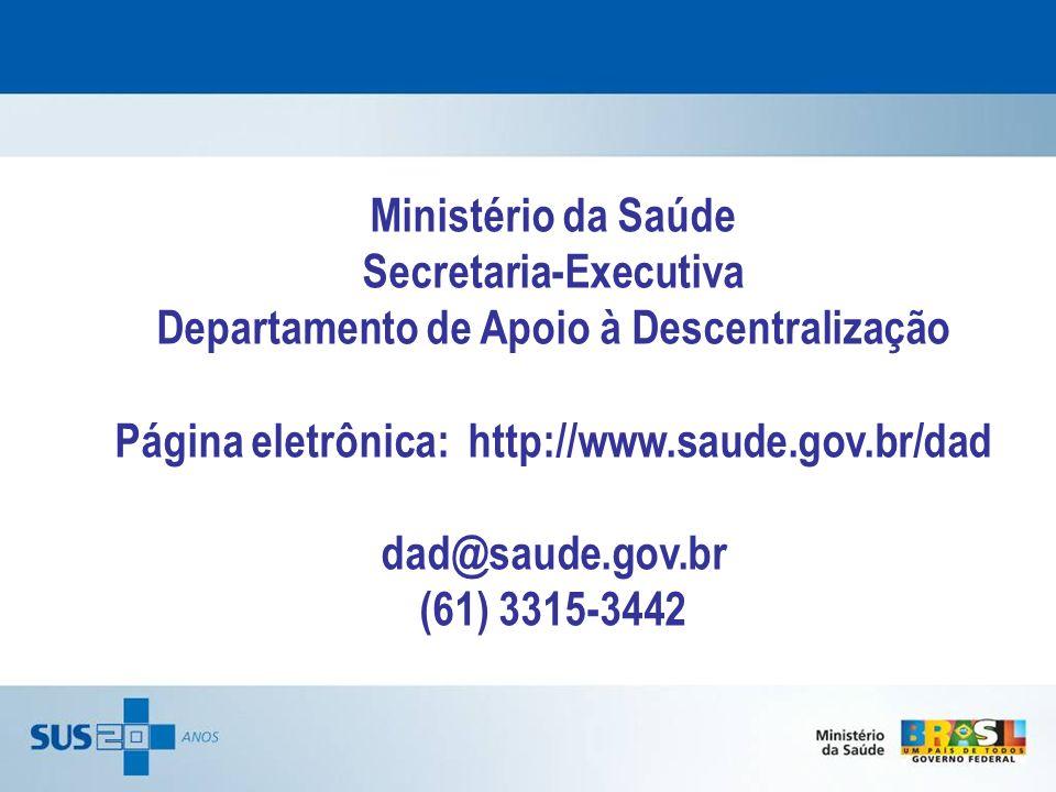 Secretaria-Executiva Departamento de Apoio à Descentralização