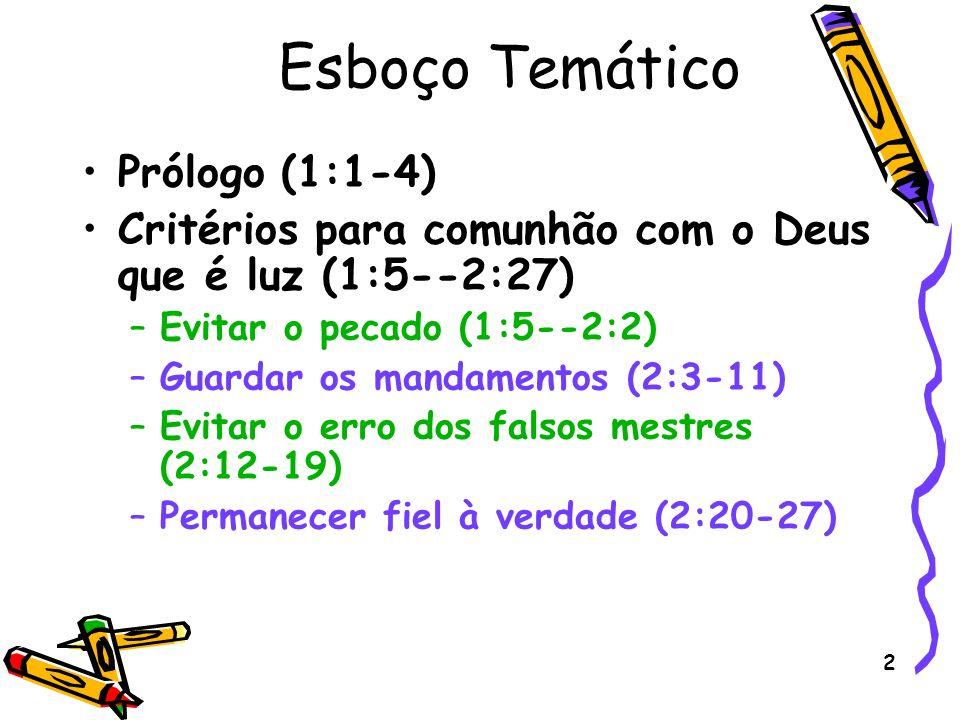 Esboço Temático Prólogo (1:1-4)