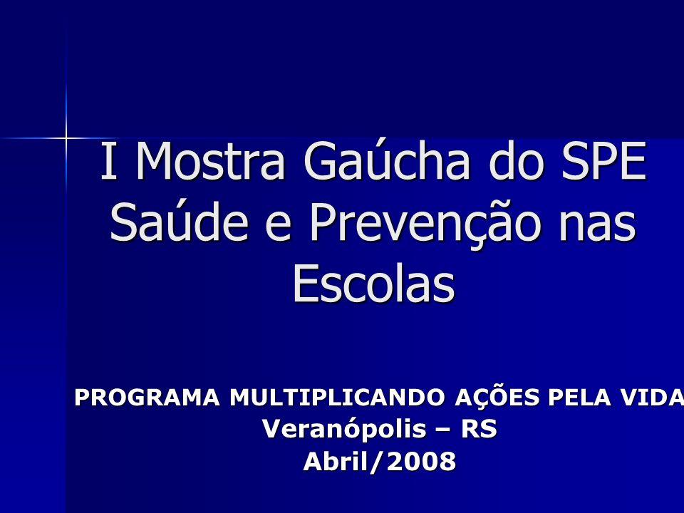 I Mostra Gaúcha do SPE Saúde e Prevenção nas Escolas