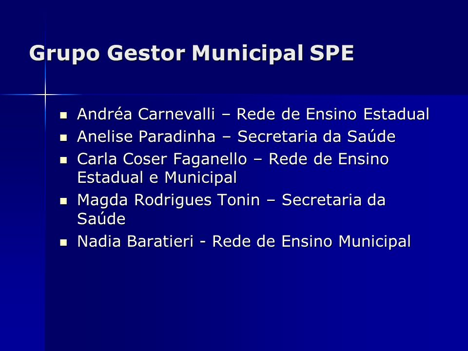 Grupo Gestor Municipal SPE