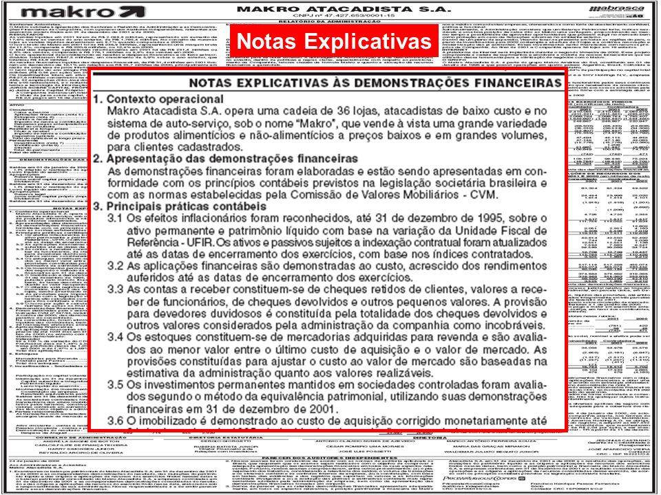 Notas Explicativas Engenharia de Produção – Custos Industriais – Prof.