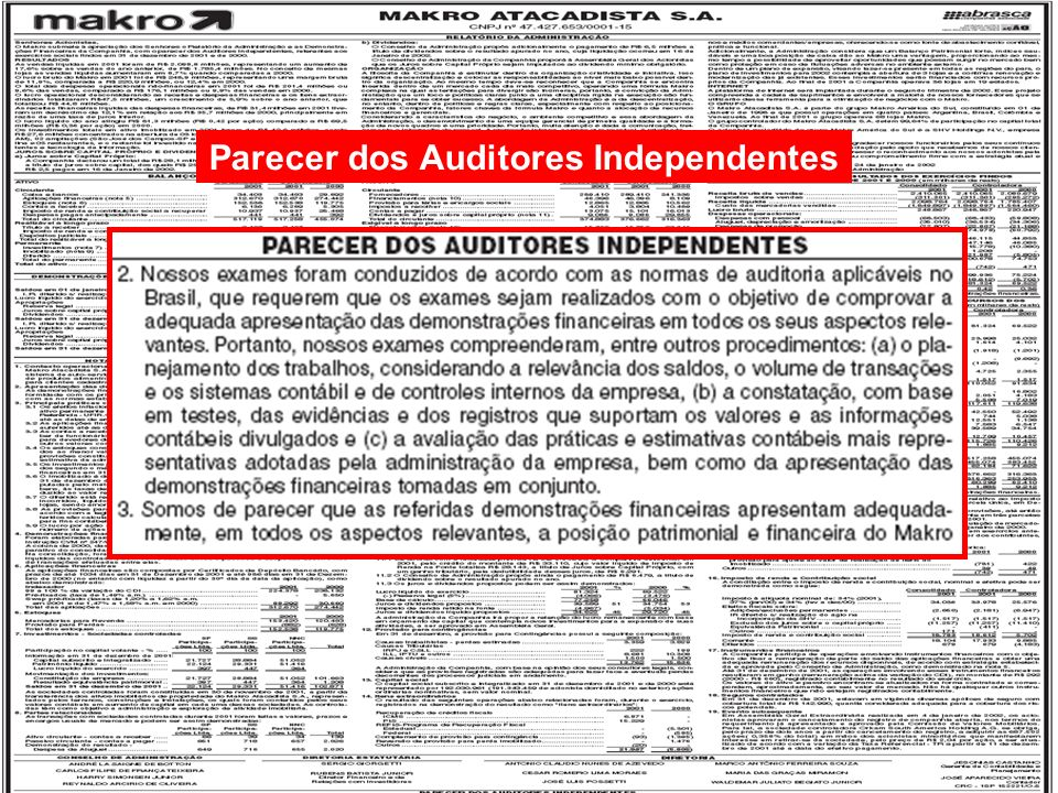 Parecer dos Auditores Independentes