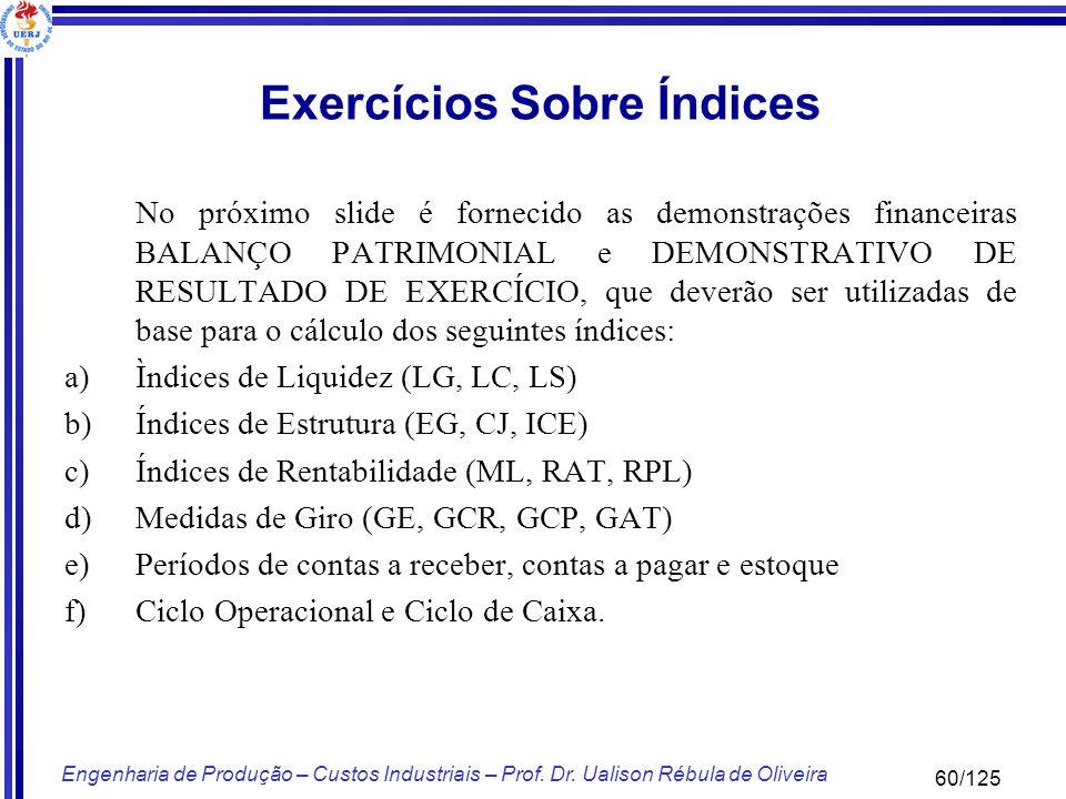 Exercícios Sobre Índices