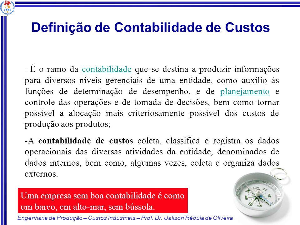 Definição de Contabilidade de Custos