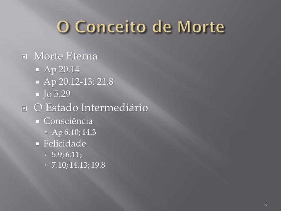 O Conceito de Morte Morte Eterna O Estado Intermediário Ap 20.14