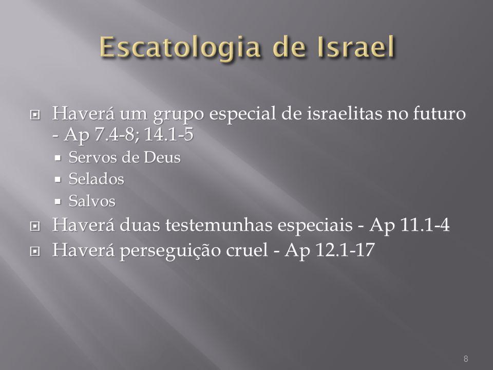 Escatologia de Israel Haverá um grupo especial de israelitas no futuro - Ap 7.4-8; 14.1-5. Servos de Deus.
