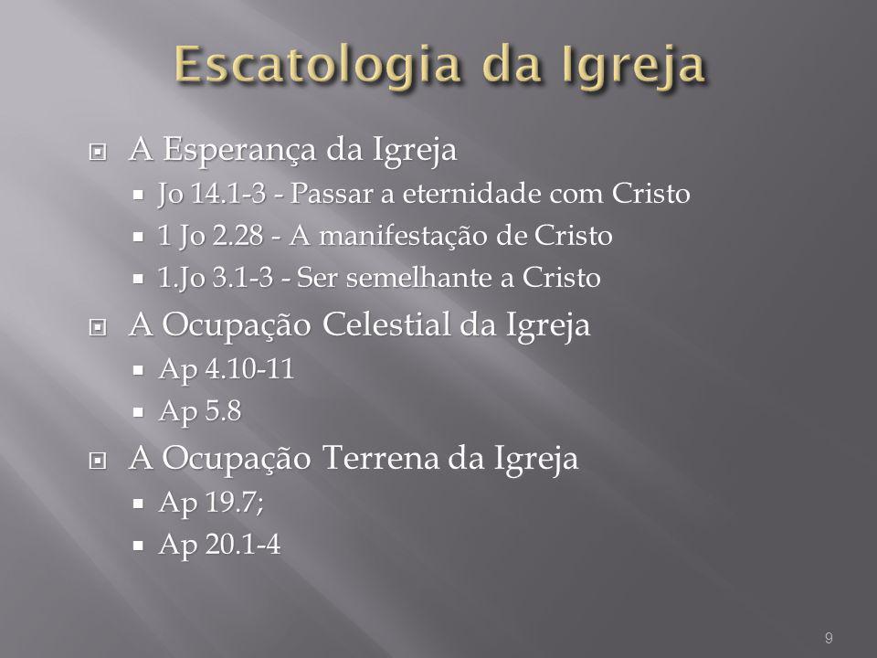 Escatologia da Igreja A Esperança da Igreja