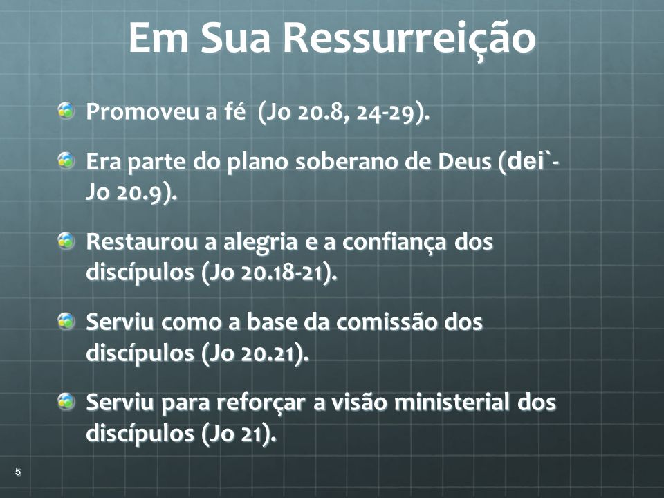 Em Sua Ressurreição Promoveu a fé (Jo 20.8, 24-29).