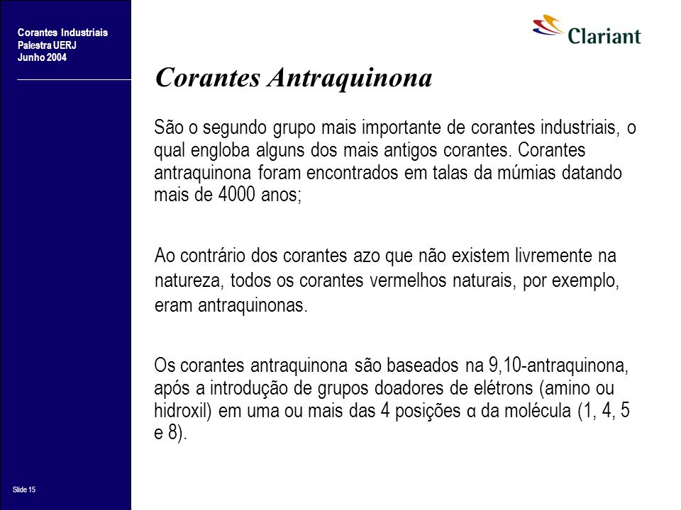 Corantes Antraquinona