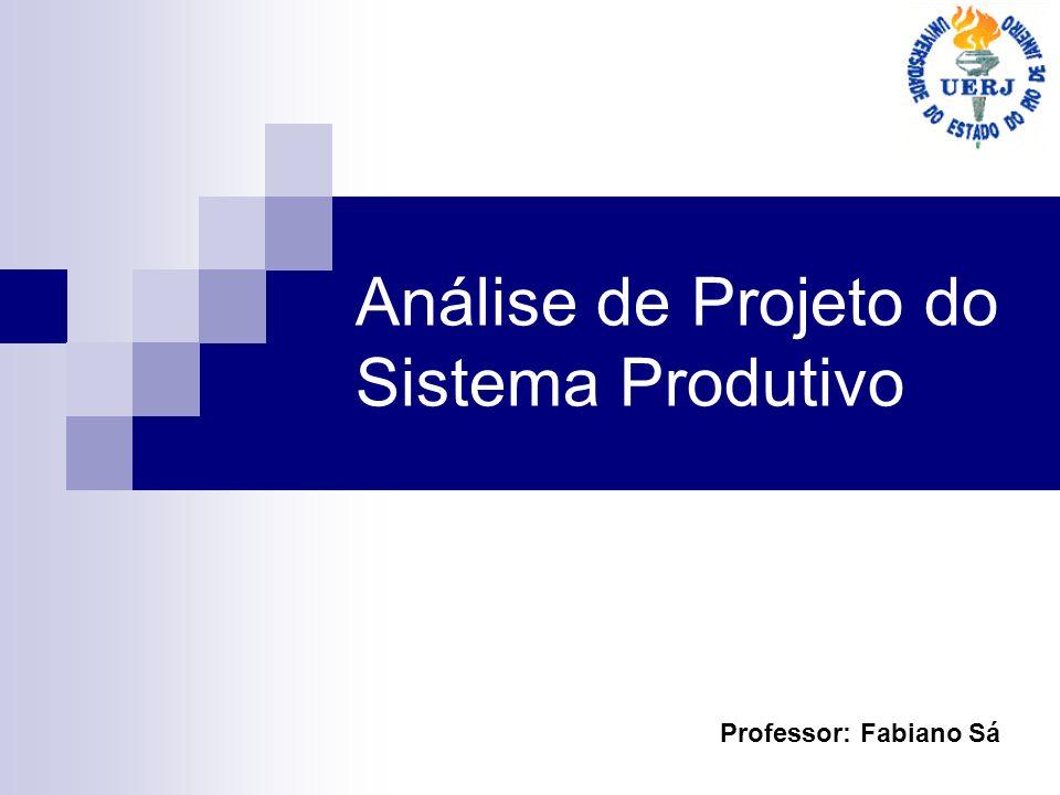 Análise de Projeto do Sistema Produtivo