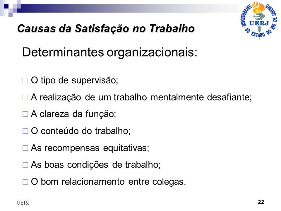 Determinantes organizacionais: