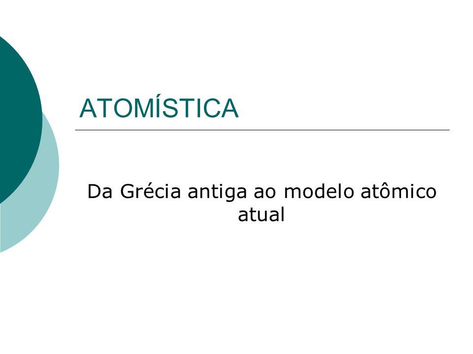Da Grécia antiga ao modelo atômico atual