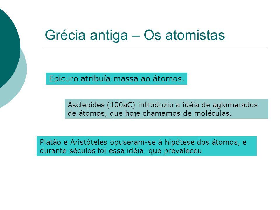 Grécia antiga – Os atomistas